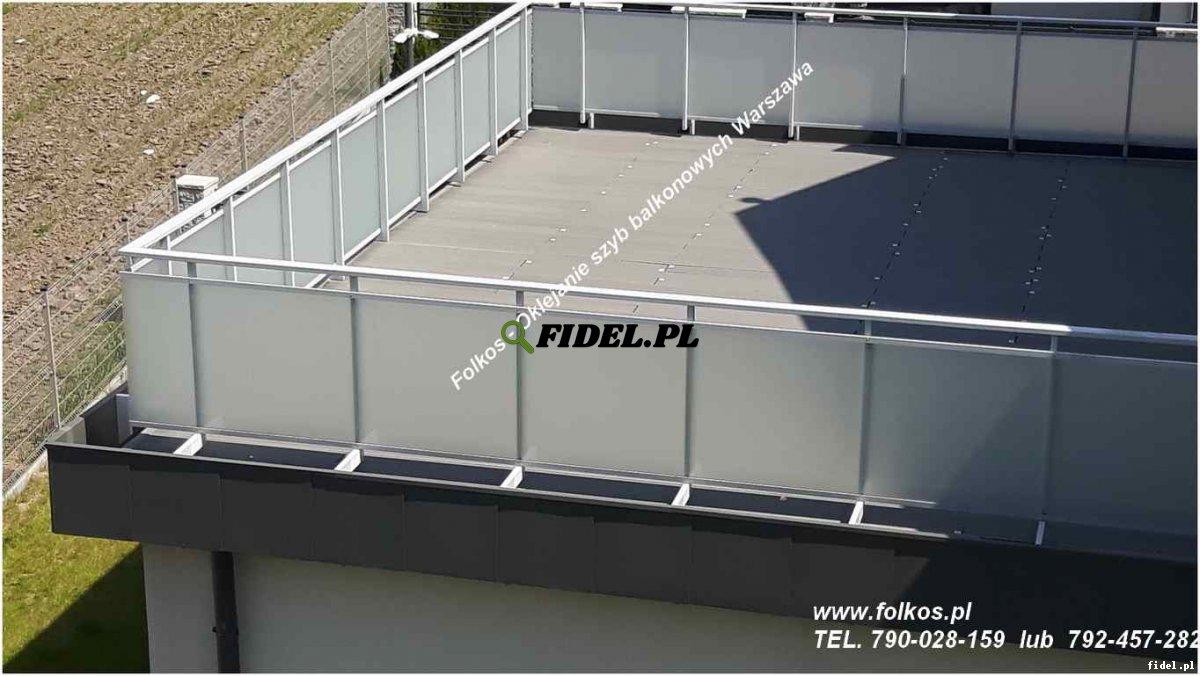 Oklejanie balkonów Warszawa - Folie matowe na szyby balkonowe