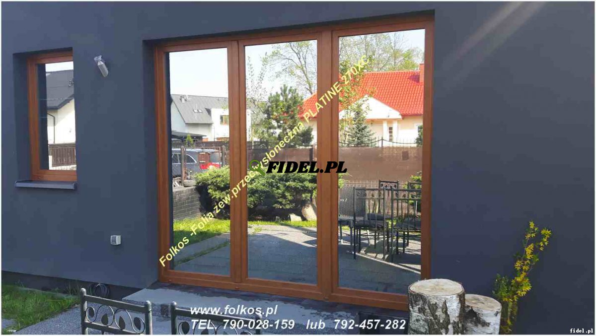 Folia zewnętrzna przeciwsłoneczna na okna dachowe IR odrzucone 70%