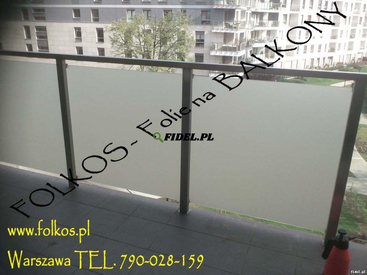 Folie na balkony Jana Kazimierza, Worcella, Sowińskiego - oklejanie balkonów Warszawa