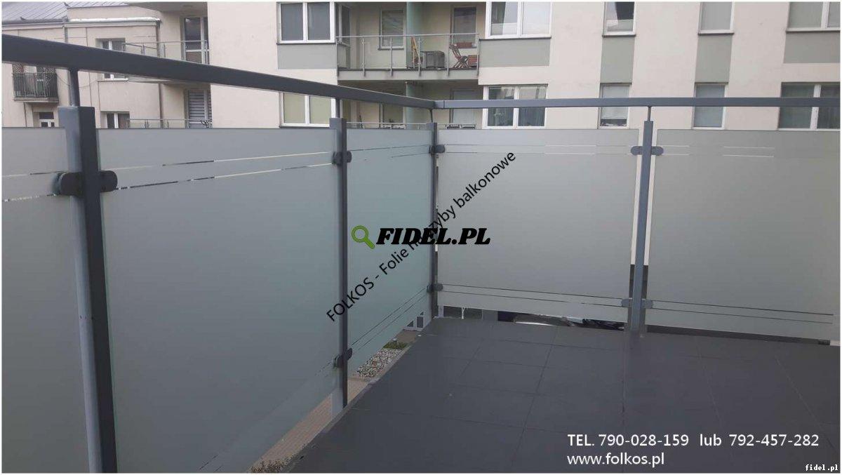 Oklejanie szyb balkonowych Warszawa - Folie na balkony Folkos