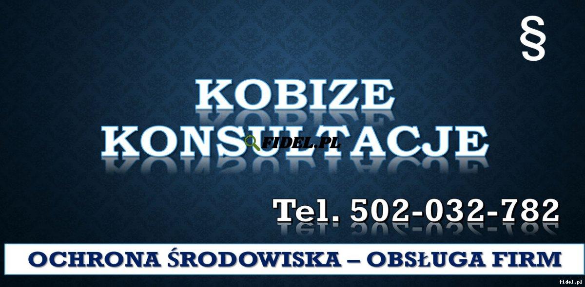 Szkolenie Raport do Kobize, tel. 504-746-203. Ćwiczenia, Warsztaty, cena , sprawozdanie., Założenie konta, prawidłowa rejestracja zakładu, zmiana