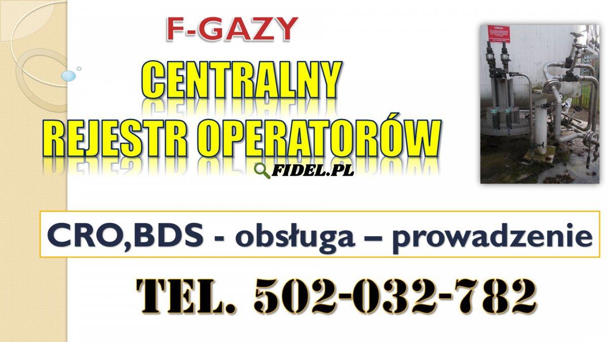 Szkolenie Centralny Rejestr Operatorów CRO, BDS, F-gazy, terminy, program, gazy fluorowane, cieplarniane, rejestracja i sprawozdanie, cena