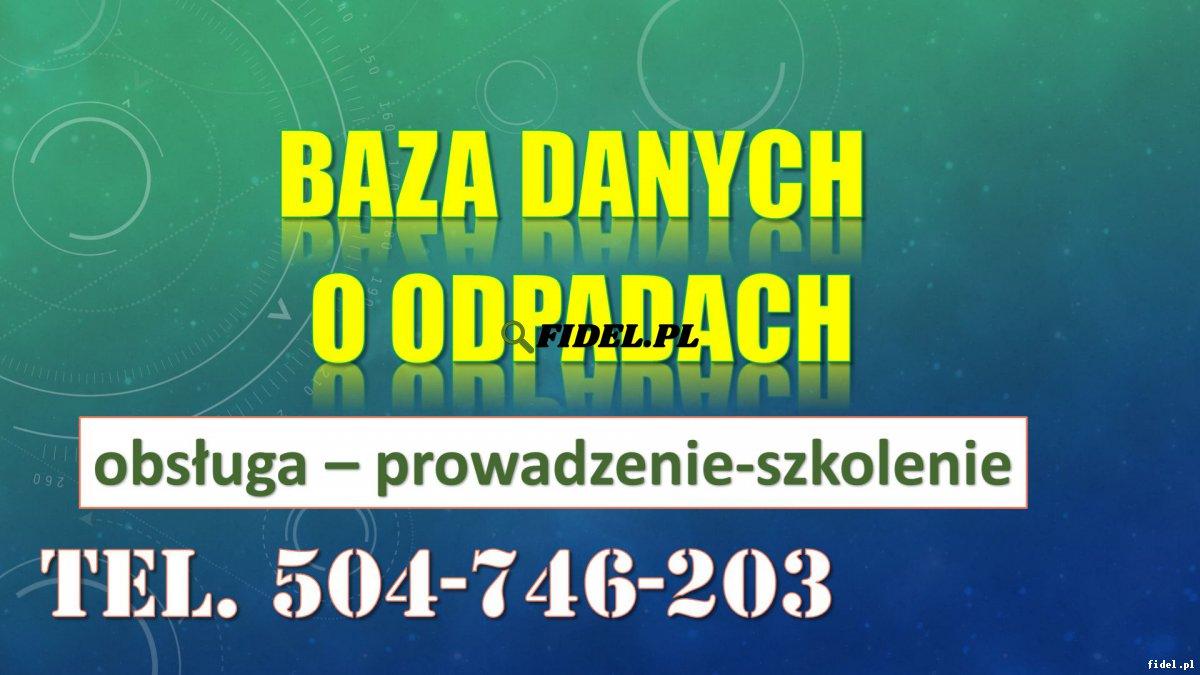 Szkolenie Baza Danych o Odpadach, tel. 504-746-203, program, termin. Jak wystawić nową kartę przekazania odpadów? Indywidualna nauka i pomoc, cena