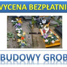 Skrzynka na grób, cena z montażem tel. 504-746-203. Obudowa grobu. Wrocław. Obudowy na grób tymczasowy. Oferujemy montaż, cmentarz Wrocław, cennik