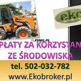 Opłaty środowiskowe, tel. 502-032-782. Kontrola z urzędu, wezwanie, cena,  kontroli WIOŚ, Urzędu Marszałkowskiego i innych organów ochrony środowiska