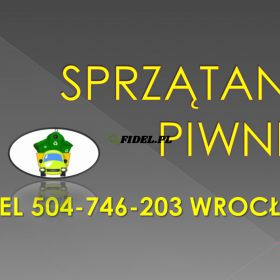 Sprzątanie strychu, garażu, cena tel 504-746-203, Wrocław, wywóz, opróżnienie, Usługi sprzątanie piwnicy ze zbędnych rzeczy. Wywóz zbędnych gratów