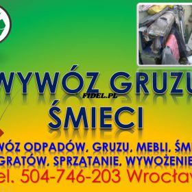 Wywóz odpadów z remontu, tel 504-746-203, sprzątanie śmieci, cena, Wrocław, Wywóz odpadów z budowy, sprzątanie śmieci po remoncie. pobudowlanych