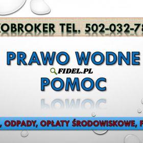 Wody polskie, pomoc, tel. 502-032-782. Odprowadzanie wód. Jak obliczyć opłaty stałe i zmienne, wody i ścieki, opadowe, roztopowe