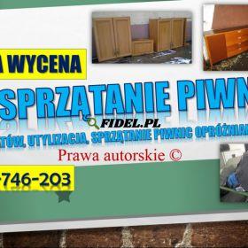 Sprzątanie piwnic Wrocław, cennik tel. 504-746-203. Wywóz gratów.   Odbiór starych mebli, sprzątanie piwnic i strychów. Wywóz zbędnego wyposażenia
