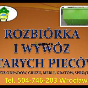 Rozbiórka i wymiana pieca kaflowego, cennik, Wrocław, tel. 504-746-203. Program Kawka, dofinansowanie