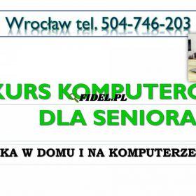 Nauka smartfona dla seniora, Wrocław, tel. 504-746-203. Indywidualne szkolenia
