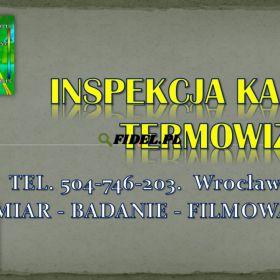 Inspekcja kamerą termowizyjną, Wrocław, tel. 504-746-203.   Badanie kamerą termowizyjną ogrzewania. Lokalizacja wycieku pod podłogą
