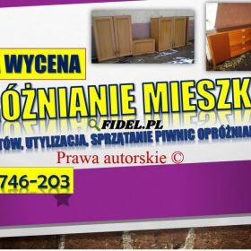 Opróżnienie mieszkania cena tel. 504-746-203, likwidacja piwnic, Wrocław