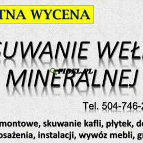 Usuwanie wełny mineralnej, cena. Tel. 504-746-203. Wrocław, wywóz waty szklanej