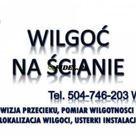 Wykrywanie wilgoci Wrocław, tel. 504-746-203. Sprawdzenie budynku, ściany, cena