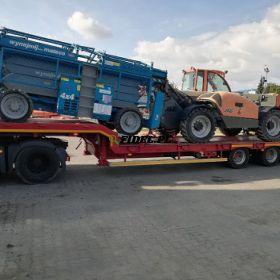 Transport maszyn budowlanych, rolniczych, przemysłowych, koparek Poznań
