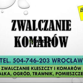 Firma zwalczająca komary, cennik usługi. Tel. 504-746-203. Wrocław, Odkomarzanie działki