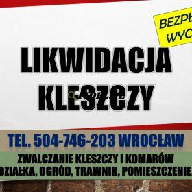 Oprysk na kleszcze, cennik, tel. 504-746-203, Wrocław. Zwalczanie kleszczy na działce
